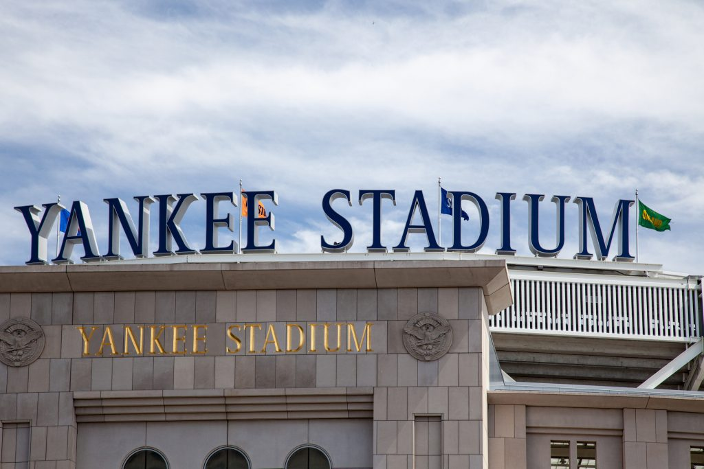 New York City, United States - September 3, 2014: Famous Yankee stadium in The Bronx New York City. Home of the New York Yankees baseball team.