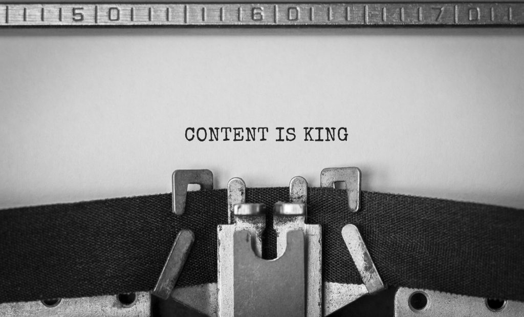 representing content is king