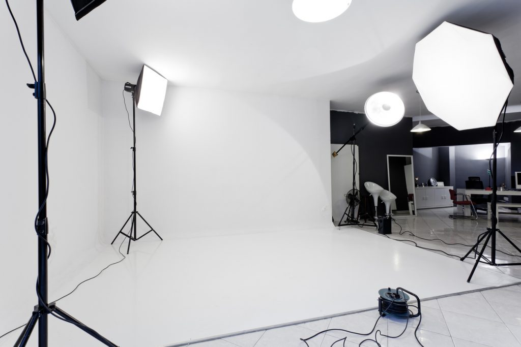 Photo studio with flash lights, stands and backgrounds. why photography matters